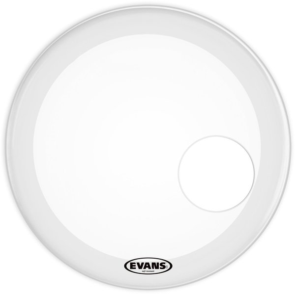 "Evans BD20RSW3 EQ3 Resonant Ambient (Smooth White) 20"" Bass Drum Resonant Heads"