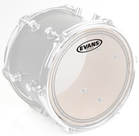 "Evans EC2 SST 12' clear (Clear) 12"" Tom Heads"