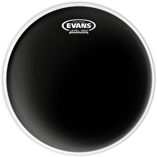 "Evans TT12CHR Black Chrome Tom 12' 12"" Δέρματα Tom"