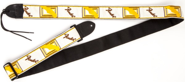 Fender Monogrammed Strap (white/brown/yellow) Ζώνες Κιθάρας