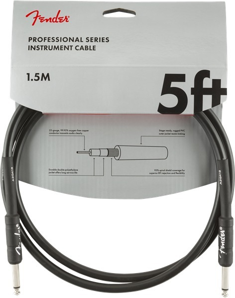 Fender Professional Instrument Cable (5'/1.5m) Instrument Cables 1-3m