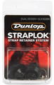 Dunlop Straplock System Dual Design Set of 2 (black oxide)