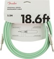 Fender Original Instrument cable (18.6ft, 5.5m, surf green)