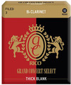 Rico Grand Concert Select 3 Thick Blank (filed, strength 3, 10 pack)