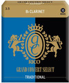 Rico Grand Concert Select Bb Clarinet 3.5 Traditional (strength 3.5, 10 pack)