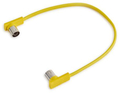 RockBoard Flat MIDI Cable 11 13/16 in (30cm / yellow)