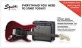 Squier Strat Pack HSS (Candy Apple Red)