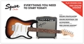 Squier Strat Pack SSS (Brown Sunburst)